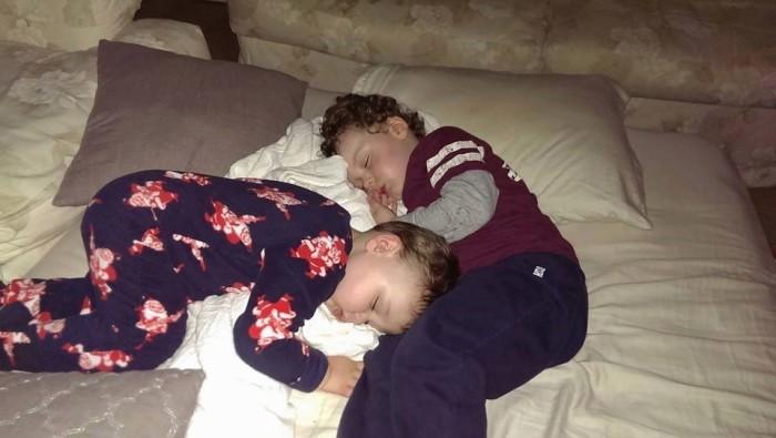 sleeping boys